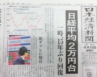 15年ぶりの2万円台