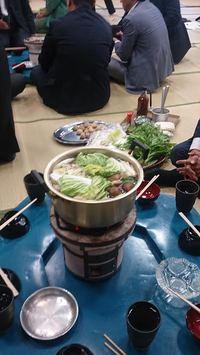 焼酎祈願祭と直会での水炊き
