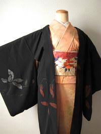 桜の刺繍帯が主役のコーデ☆
