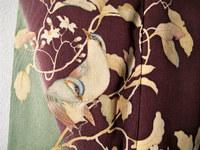 二羽の青い鳥と枝柄着物(コーディネート)☆
