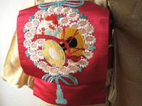 引き続き日本刺繍の帯☆