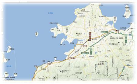 糸島市,地図