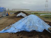 堆肥搬入準備完了!