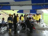 豪雨の中の『第9回エツっ祭』