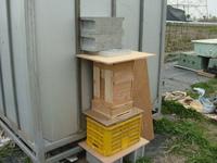 べじらんどに日本ミツバチの巣箱設置