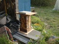 ミツバチの巣箱を移動