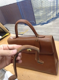 コーチのバッグ 持ち手交換