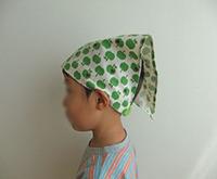 子どもエプロンとお揃いの三角巾