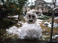 チビ太の雪だるま