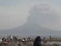 噴火してました。