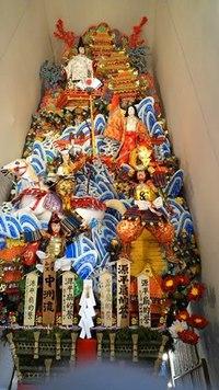 飾り山「中州流」。