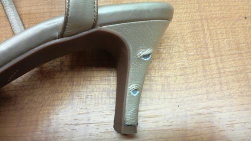 靴修理,ヒールの巻革