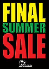 FINAL SUMMER SALE☆開催します!
