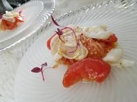 烏賊とフルーツトマトの冷製カッペリーニ。