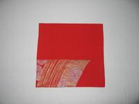 朱赤の羽織地で作った袱紗