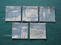 麻紬で作った敷物5枚セット