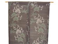 松竹模様の夏大島で作った暖簾
