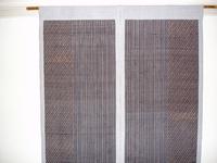 後染の紬で作った暖簾