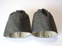 男物の紬で作った袖口カバー
