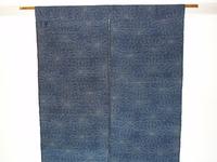 花柄の紬で作った暖簾