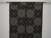 大島紬の着物地で作った暖簾