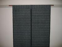 大島紬で作った暖簾