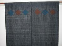 アップリケつき麻紬の暖簾