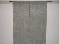夏の結城紬で作った暖簾