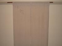 紗袷の着物で作った暖簾