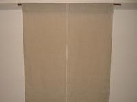 麻の着物地で作った暖簾