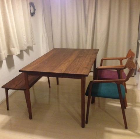 テーブル・チェア・ベンチのお届け写真です