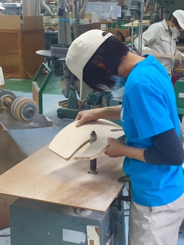 アップライトチェアの製作工場へ行ってきました