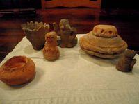 薪ストーブで土器風ミニオブジェ