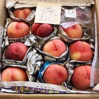 桃が届いた!!
