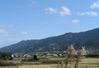 一月の耳納山