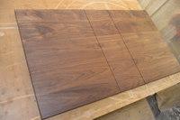 無垢のエクステンションテーブルの天板加工!