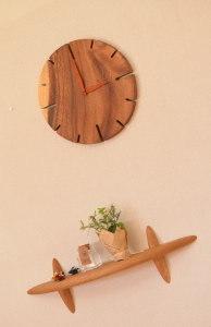大人雰囲気のワークデスク&ワゴン完成 と オシャレな木の時計☆