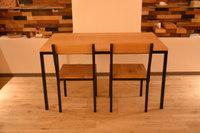 ブラックチェリー(桜)×アイアン脚のテーブル完成!