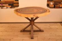 素敵な弦楽器工房様からモンキーポッド輪切テーブルと超巨大輪切り!