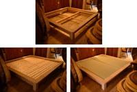 超特大サイズのオーク畳ベッド仮組と無垢ウォールナット円卓完成☆