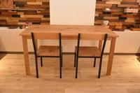 自然の風合いをそのままに(オーク)ラステックテーブル×2台完成!