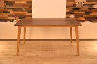 B.ウォールナット×オークの四方転びテーブルと特別な天板Mエボニー完成!