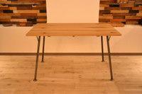 ホワイトオーク(ラスティック仕上げ)×アイアン脚のテーブル完成!