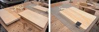 イチョウのまな板仕上げとB・ウォールナット材大量入荷!