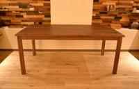 引き出し合計5ヶ所取り付けウォールナットテーブル完成!