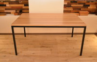 ホワイトオーク×鉄脚のテーブル(マットウレタン塗装)完成!