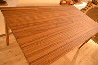無垢テーブル最高峰クラスのミャンマーチーク(柾目)ダイニングテーブル完成!