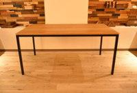 程良く節が入った人気のオーク×鉄脚テーブル完成!