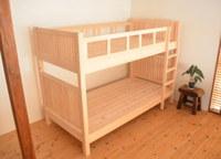 長っ~く使えるデザインのヒノキ2段ベッド完成!