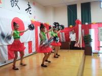周船寺公民館敬老祝いで踊りました。